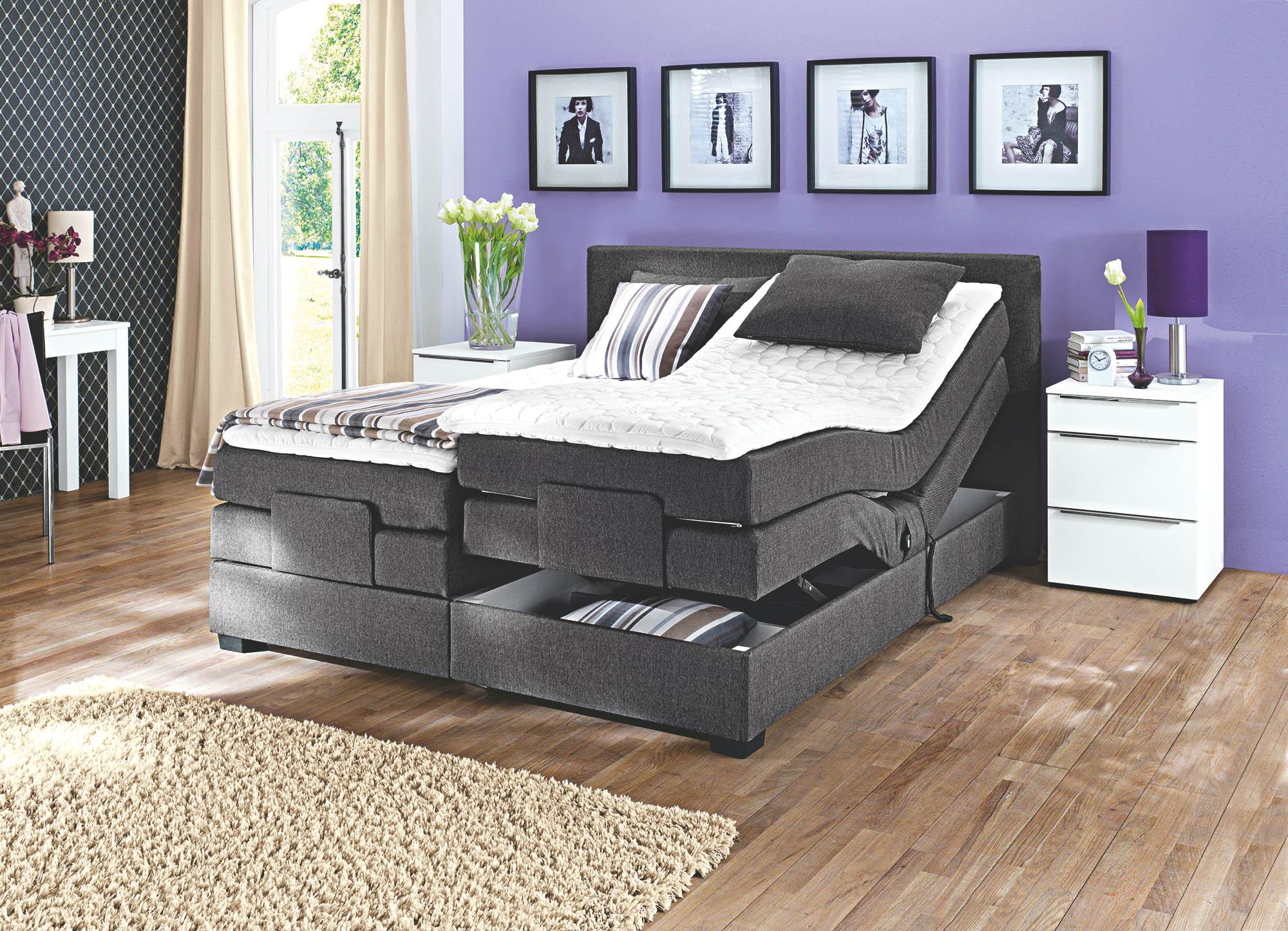 boxspringbett oschmann belcanto filou motor 200x200 m bel. Black Bedroom Furniture Sets. Home Design Ideas