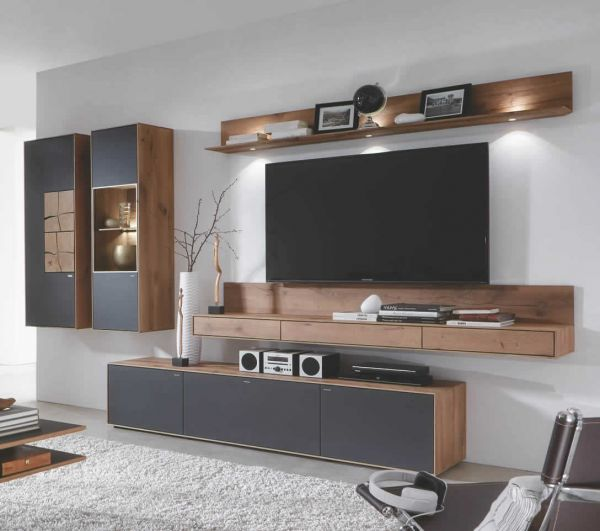 hartmann caya wohnwand 26a kenreiche massiv bei m bel. Black Bedroom Furniture Sets. Home Design Ideas