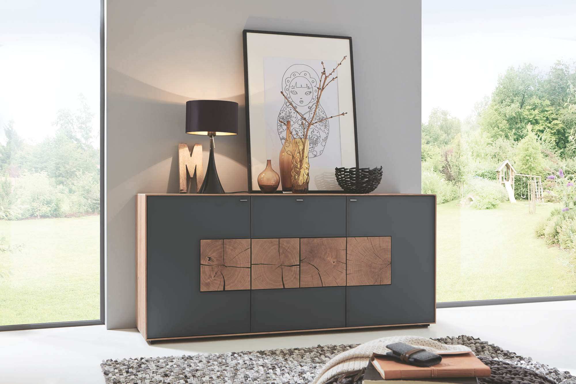 hartmann caya sideboard 4173a nur bei m bel. Black Bedroom Furniture Sets. Home Design Ideas
