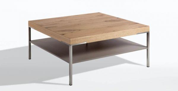Gwinner CT501-65 Couchtisch / Ablage: Lack seidenmatt fango - Platte: Balkeneiche honig