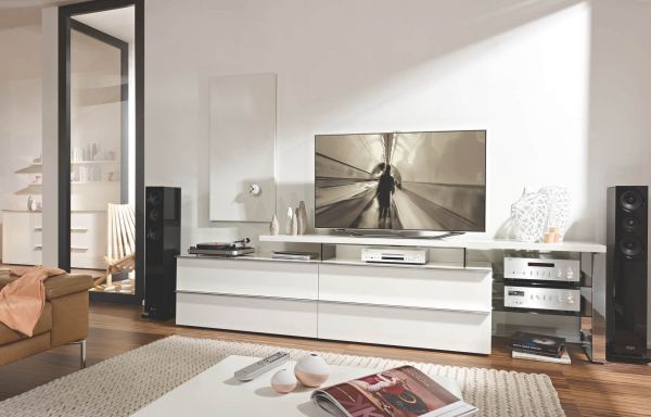 Loddenkemper Media 3000 TV-Unterteil 7377 mit TV-Bank 7823
