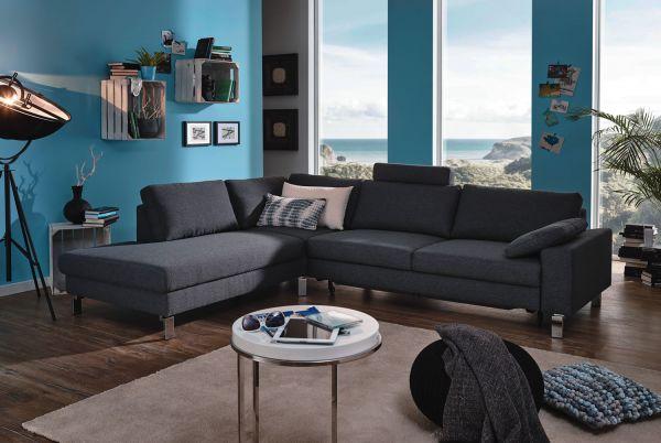 Candy Beverly Hills / Intermezzo Eckgarnitur 8186 Florida dark grey