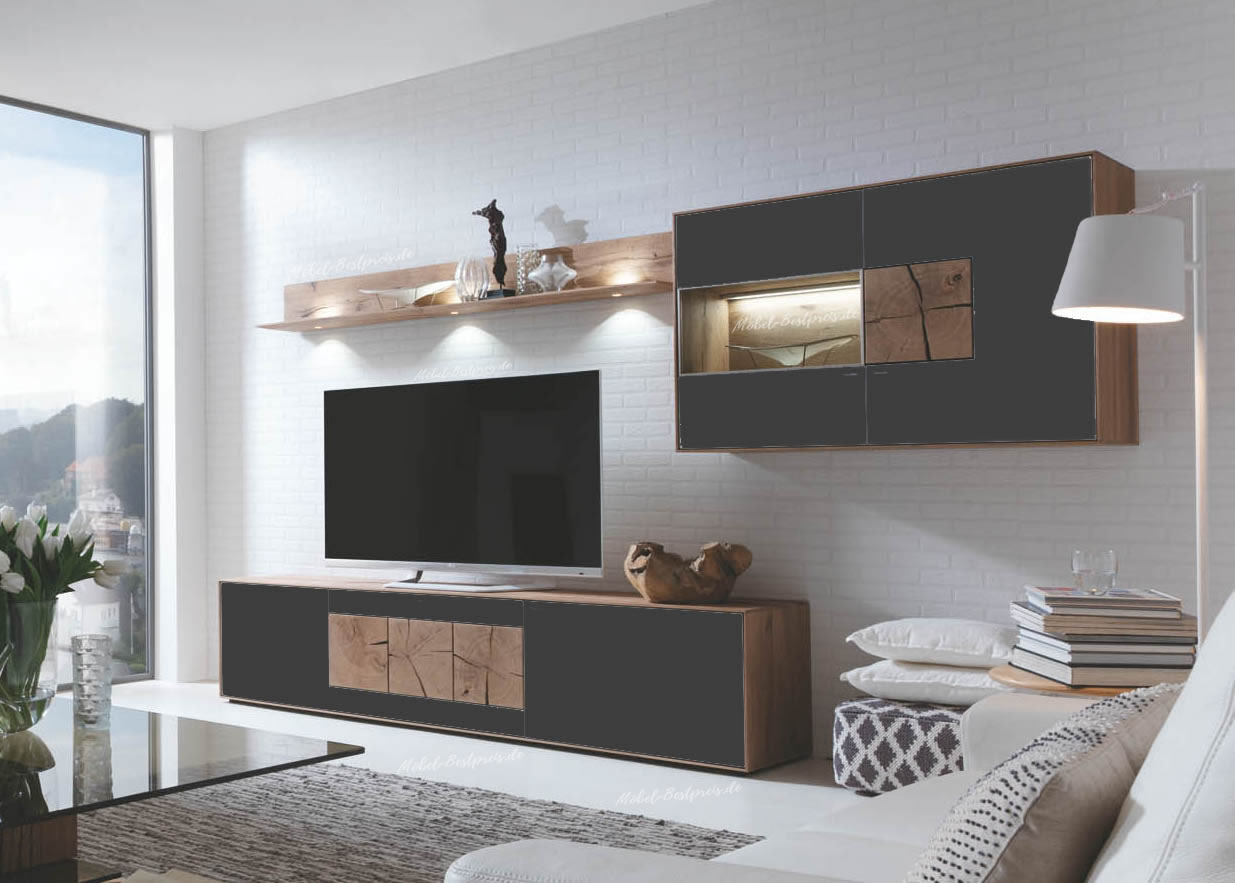 hartmann caya wohnwand 22 a jetzt bei m bel. Black Bedroom Furniture Sets. Home Design Ideas